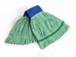 Green Microfiber Tube Mop Bro-Tex Customized Wiping