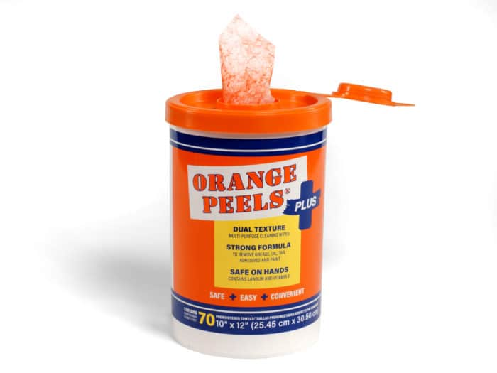 Orange Peels canister only Bro-Tex Customized Wiping