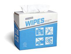 White Spunlace Creped Dispense Pro Bro-Tex Customized Wiping
